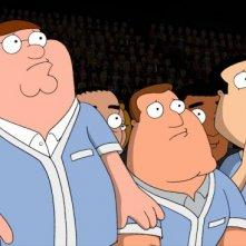 Peter con Quagmire e Joe in una scena di Baby, You Knock Me Out della serie I Griffin
