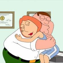 Peter e Lois in una scena dell'episodio 9x05 della serie-tv I Griffin