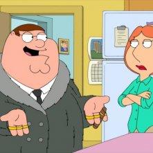 Peter e Lois in una scena di Baby, You Knock Me Out della serie-tv I Griffin