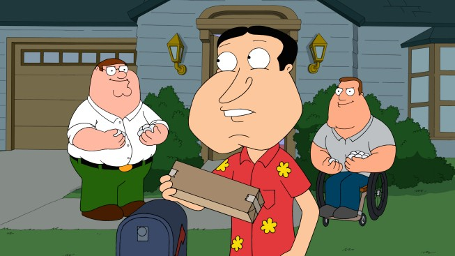 Quagmire Con Peter E Joe In Secondo Piano Nell Episodio Halloween On Spooner Street De I Griffin 210152