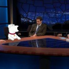 Arianna Huffington, Brian Griffin, Dana Gould e Bill Maher nell'episodio 9x06 de I Griffin