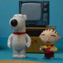 Brian e Stewie in una curiosa scena di Road to the Multiverse della serie-tv I Griffin