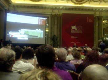 La conferenza stampa di presentazione della 68esima Mostra del Cinema di Venezia.