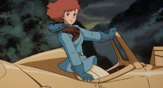 Una scena del film Nausicaa della valle del vento di Hayao Miyazaki