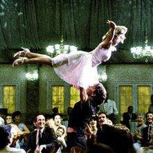 Patrick Swayze e Jennifer Grey nella scena finale del film Dirty Dancing
