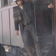 Anson Mount in una scena della nuova serie AMC Hell on Wheels