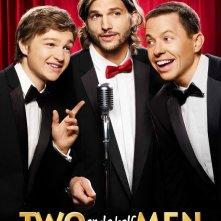 Nuovo poster promozionale della nona stagione di Two and a Half Men con la new entry Ashton Kutcher