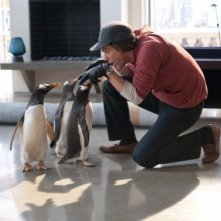 Jim Carrey e le adorabili co-star de i Pinguini di Mister Popper
