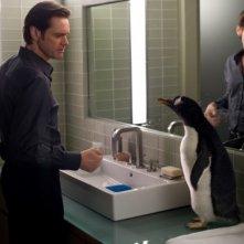 Jim Carrey in una sequenza de i Pinguini di Mr. Popper