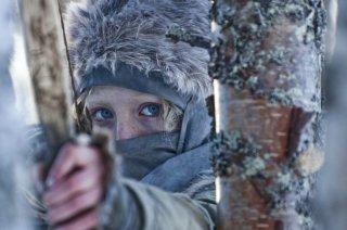 Saoirse Ronan in una sequenza del thriller Hanna, del 2011