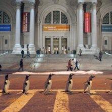 Una scena del film i Pinguini di Mister Popper