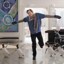 Una sequenza del film i Pinguini di Mister Popper (2011) con Jim Carrey