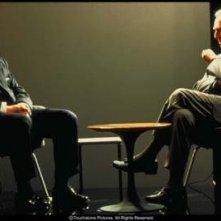 Christopher Plummer e Russell Crowe in una scena del film Insider - Dietro la verità di Michael Mann