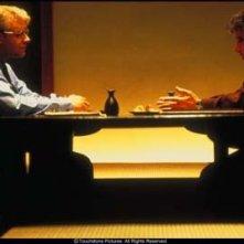 Russell Crowe e Al Pacino in una scena del film Insider - Dietro la verità di Michael Mann