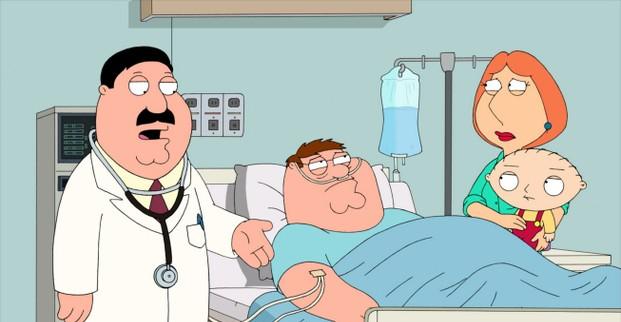 Il Dottor Hartman Con Parte Della Famiglia Griffin In New Kidney In Town 211113
