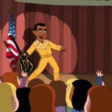 Il presidente Obama nell'episodio della stagione 9 de I Griffin, New Kidney in Town