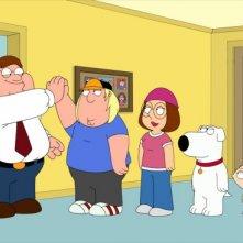 La famiglia Griffin nell'episodio Friends of Peter G. della stagione 9