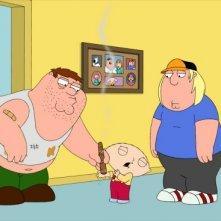 Peter con i suoi figli più Brian in una scena di Friend of Peter G. della serie I Griffin