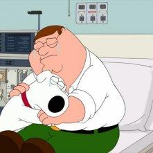 Peter e Brian in una scena di New Kidney in Town de I Griffin