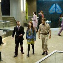 Colin Ferguson, Neil Grayston e Felicia Day in una scena dell'episodio Up in the Air di Eureka