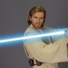 Ewan McGregor in un'immagine promo per Star Wars