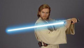 Ewan McGregor in un'immagine promo per Star Wars