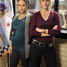 Rachael Carpani e Marisa Ramirez in una foto promozionale di Against the Wall