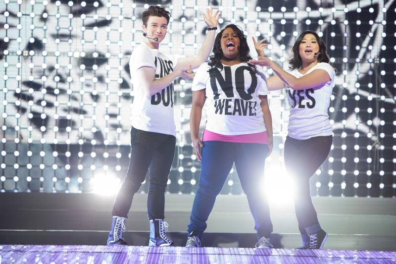 Chris Colfer Amber Riley E Jenna Ushkowitz In Glee The 3D Concert Movie 211524