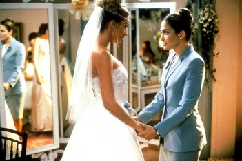 Jennifer Lopez in una scene di The Wedding Planner