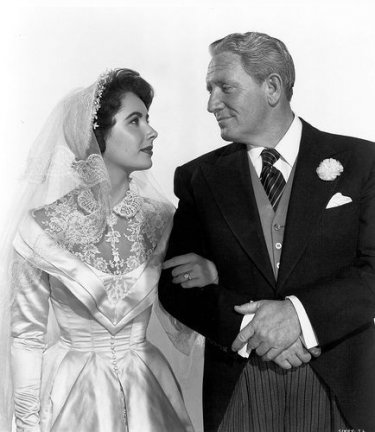 Spencer Tracy ed Elizabeth Taylor ne Il padre della sposa