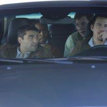 Channing Tatum, Oscar Isaac, Anthony Mackie e Chris Pratt in auto in Ten Year