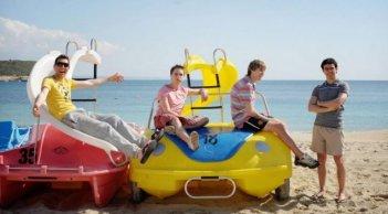 James Buckley, Simon Bird, Joe Thomas e Blake Harrison in The Inbetweeners Movie