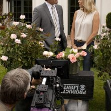 Katherine Kelly Lang e Ronn Moss sul set di Beautiful, nel 2011.
