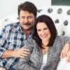 Nick Offerman e Megan Mullally in Gay Dude