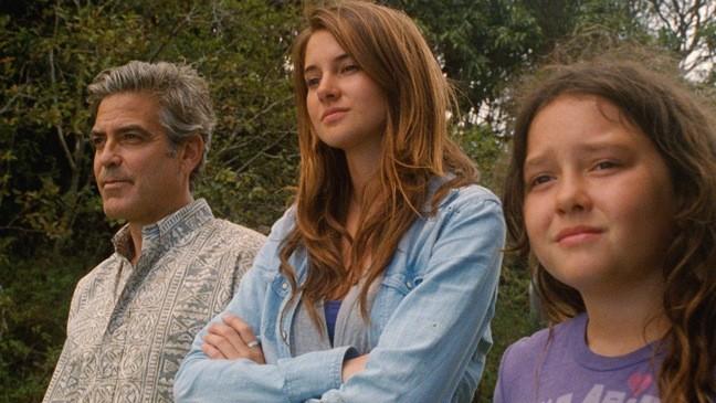 George Clooney Shailene Woodley E Amara Miller In The Descendants 211957