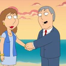 La sorella di Lois, Carol con il sindaco West in una scena di Brothers & Sisters de I Griffin
