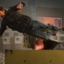Patrick Dempsey in una scena d'azione de Le regole della truffa