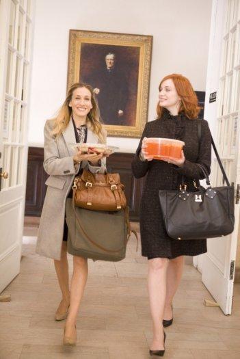 Sarah Jessica Parker con Christina Hendricks in Ma come fa a far tutto?