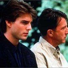 Tom Cruise e Dustin Hoffman in Rain Man - L'uomo della pioggia
