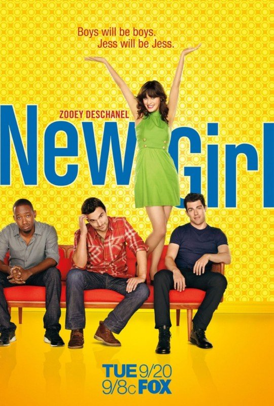 Poster Della Comedy Series New Girl Con Zooey Deschanel 212183
