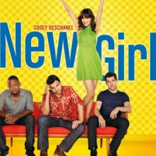 Poster della comedy series New Girl, con Zooey Deschanel