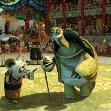 Kung Fu Panda, una sequenza del film