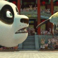 Kung Fu Panda, Po in una sequenza del film