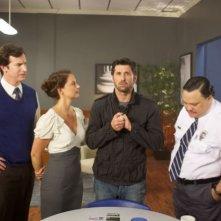 Patrick Dempsey e Ashley Judd (al centro) nel film Le regole della truffa
