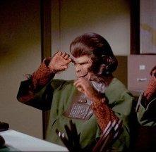 Un'inquietante scena di Fuga dal pianeta delle scimmie