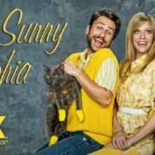 Un poster con sviluppo orizzontale della stagione 7 della serie C'è sempre il sole a Philadelphia