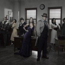 Una foto promozionale del cast della stagione 4 di Castle