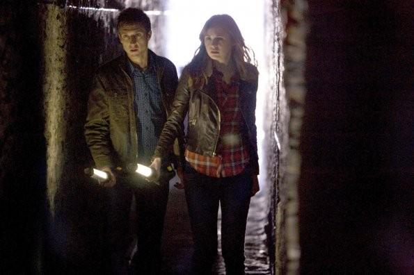 Doctor Who Karen Gillan Ed Arthur Darvill In Un Momento Dell Episodio The Rebel Flesh 212824