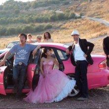 Foto di gruppo per il cast di Pink Subaru