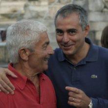 il regista Paolo Bianchini e Massimiliano La Pegna sul set di Mal'Aria